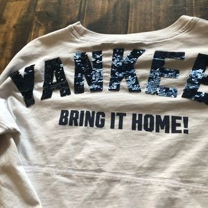 Victoria secret sequin Yankees thick long sleeve
